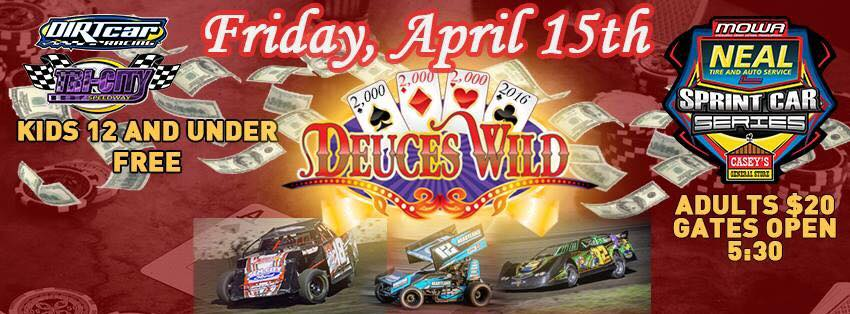 Deuces Wild Opens 24 Race Mowa Slate At Tri City Speedway