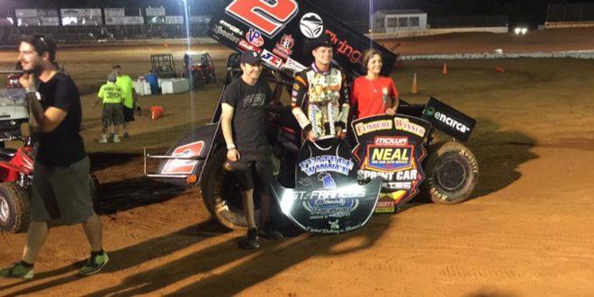 Parker Price Miller Stops Jerrod Hulls streak and wins St. Francois County Raceway